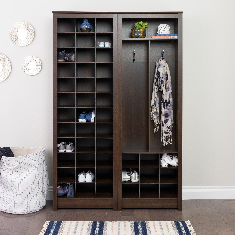 three posts space saving shoe storage cabinet reviews wayfair. Black Bedroom Furniture Sets. Home Design Ideas
