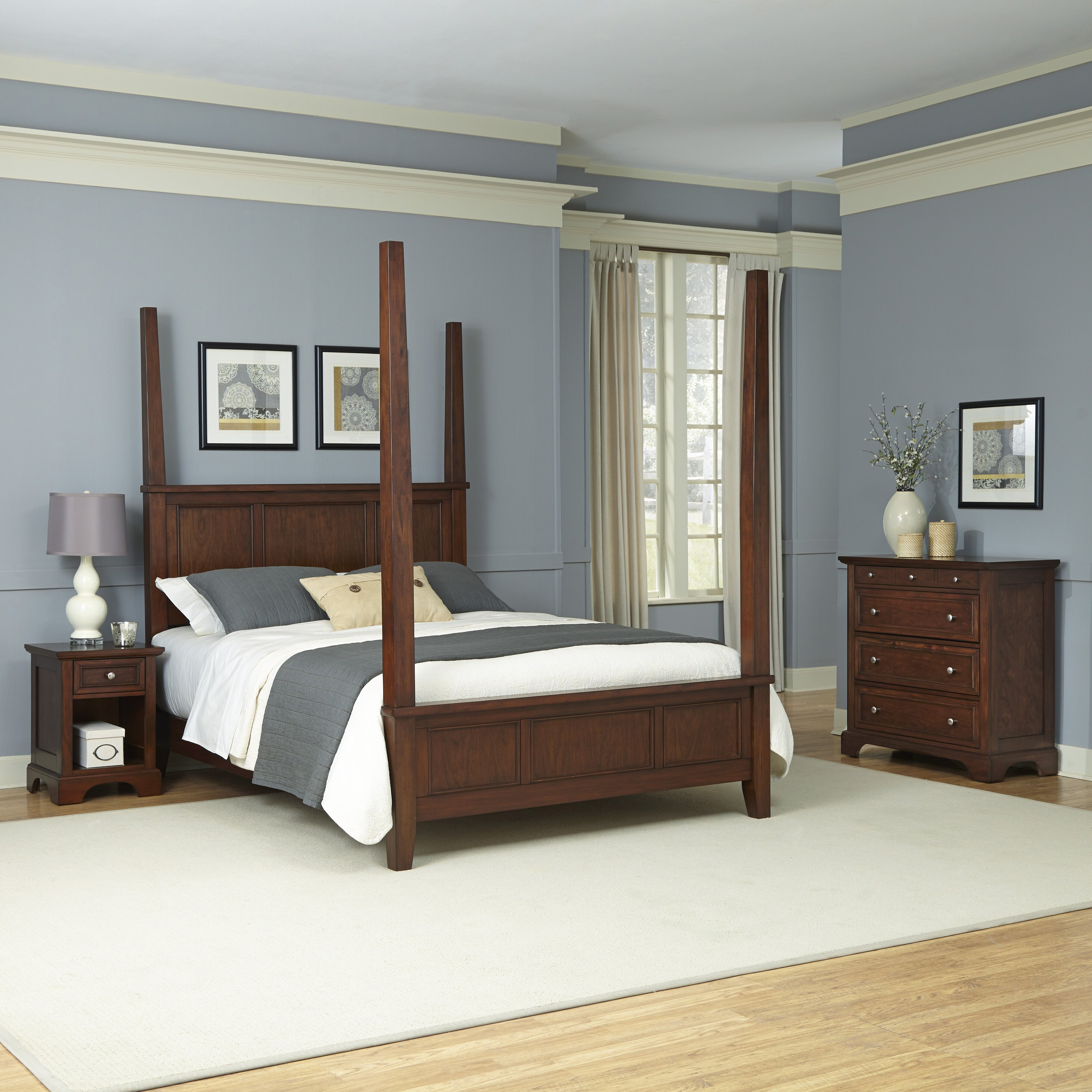 Three posts borden four poster 3 piece bedroom set wayfair for 3 bedroom set