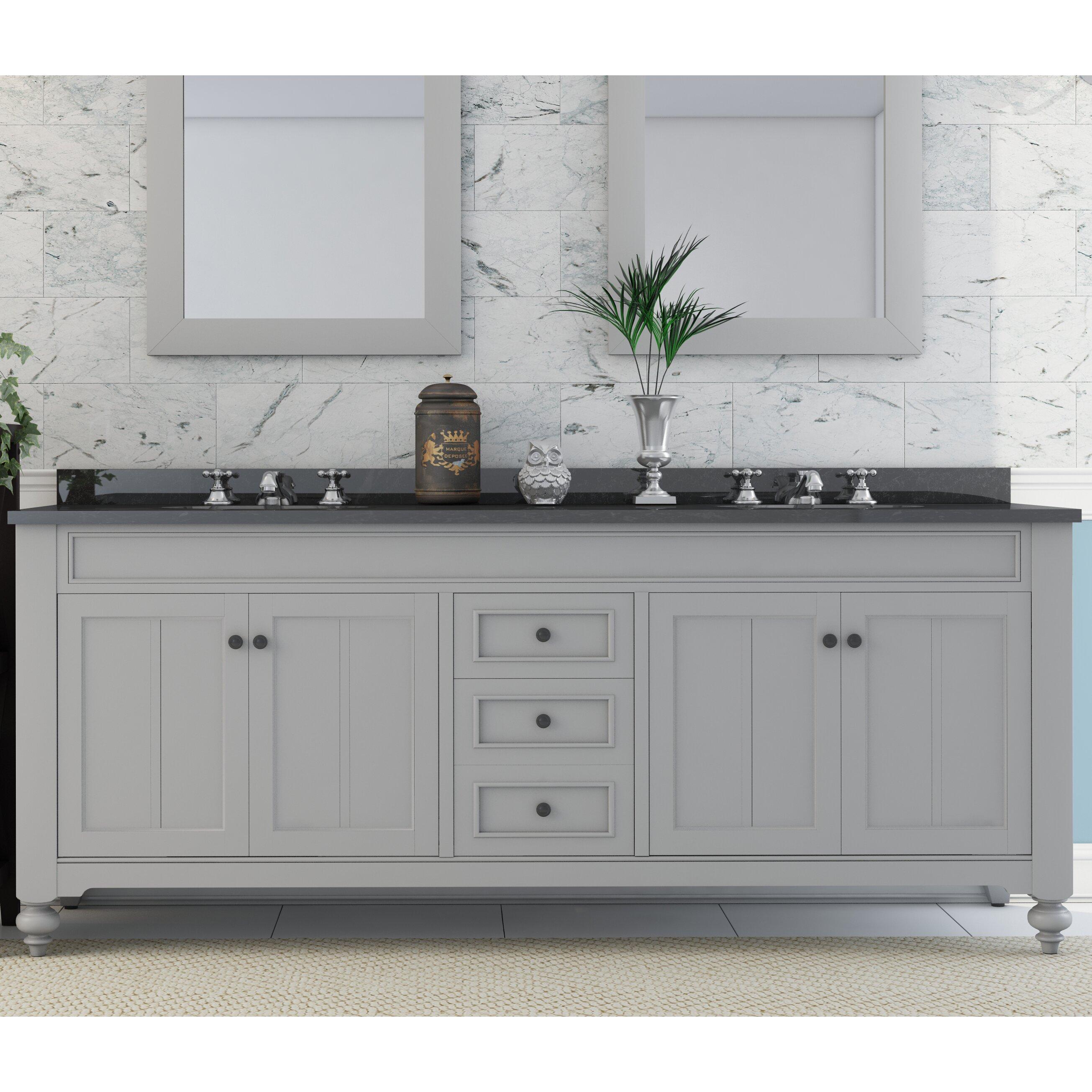 "Three Posts Latimer 72"" Double Sink Bathroom Vanity Set"
