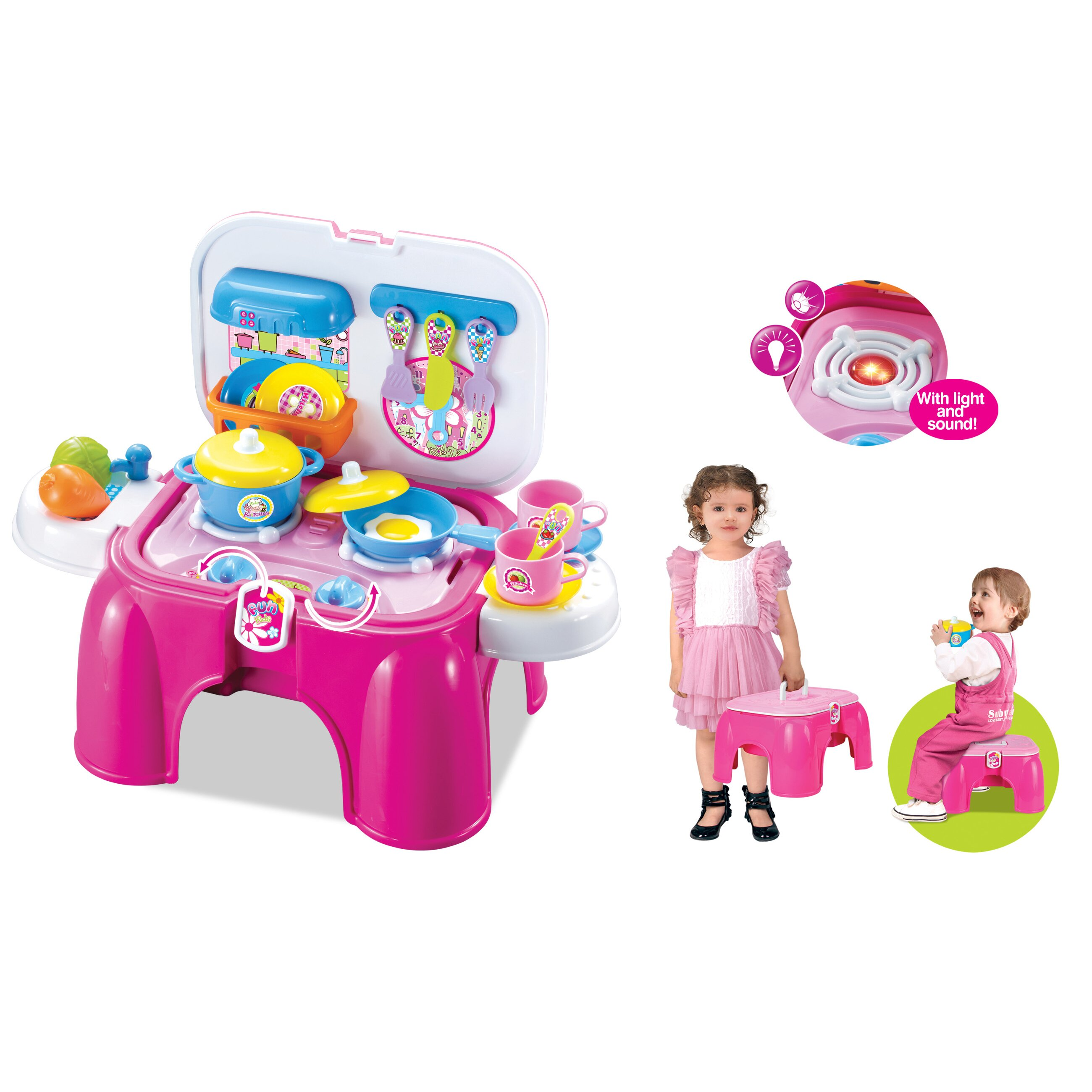 Berry toys my first portable play and carry kitchen bench for Kitchen set portable