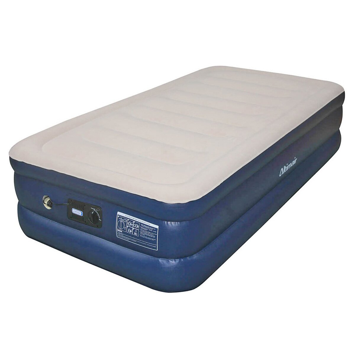 airtek keystone 18 raised air mattress with built in pump. Black Bedroom Furniture Sets. Home Design Ideas