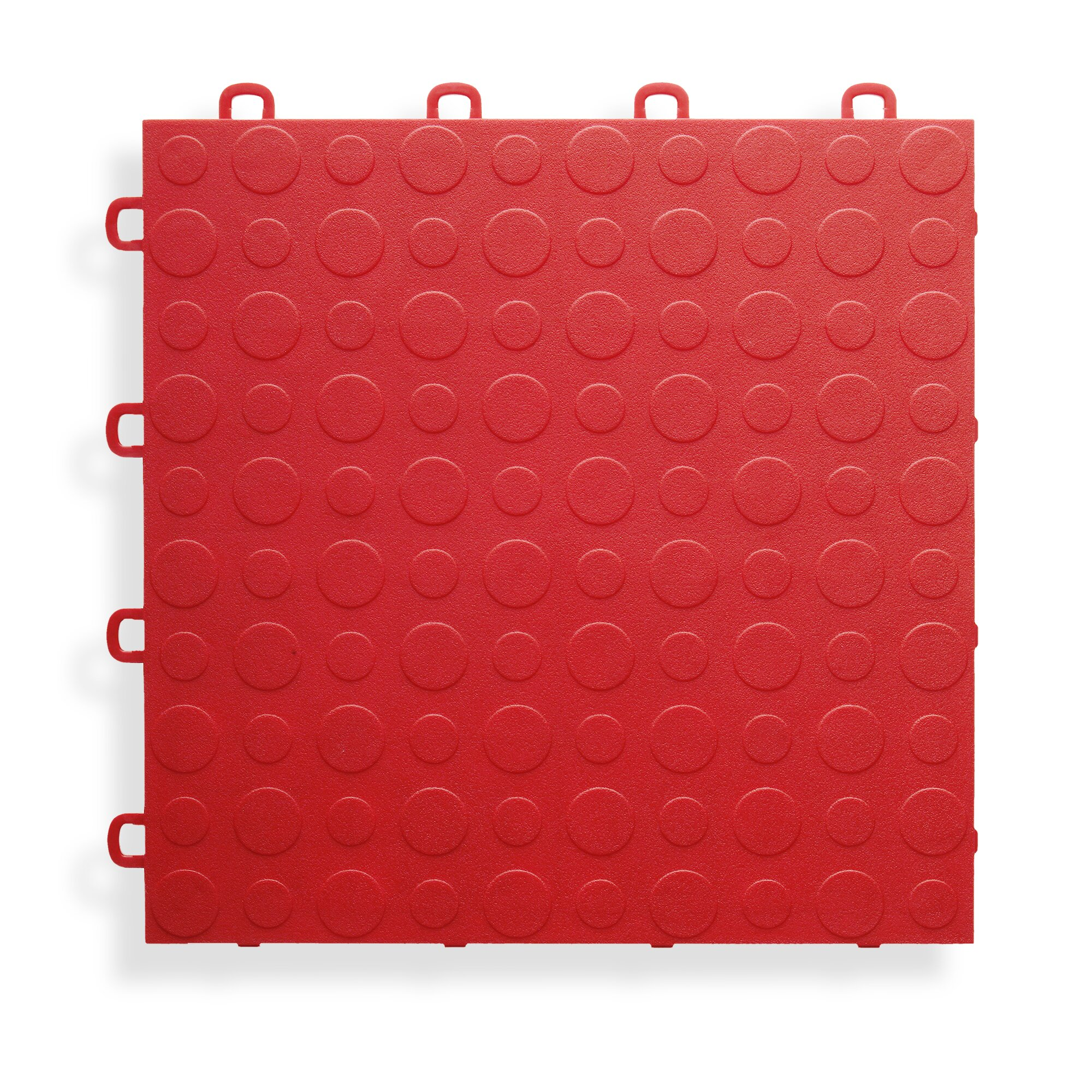 BlockTile 12 X 12 Garage Flooring Tile In Red Reviews Way