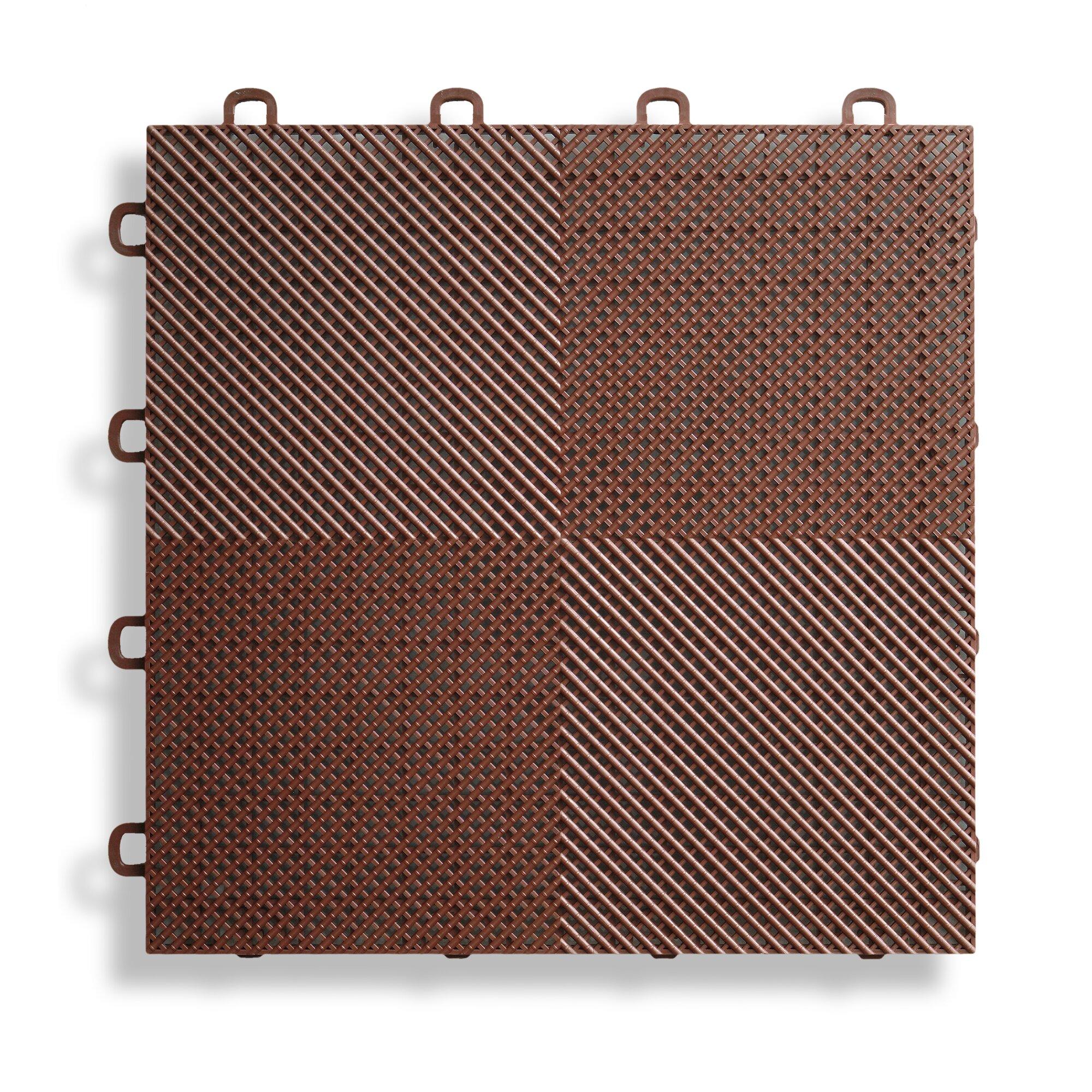 Blocktile 12 Quot X 12 Quot Deck And Patio Flooring Tile In Brown