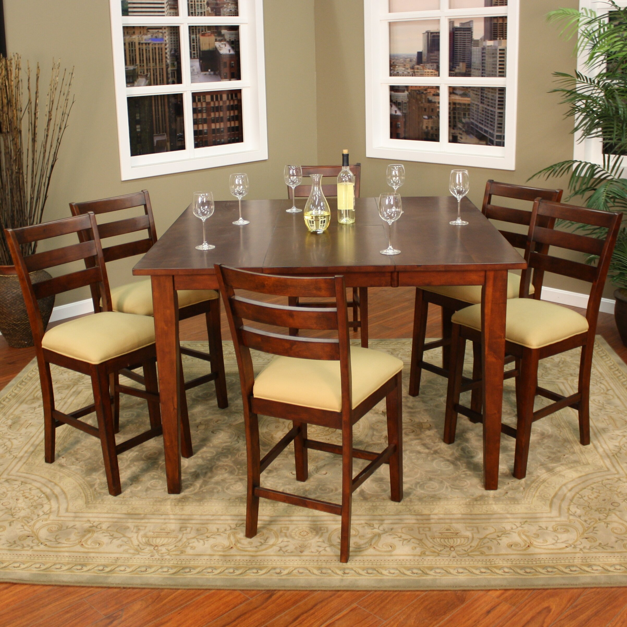7 Piece Counter Height Dining Set At American Furniture: American Heritage Este 7 Piece Counter Height Pub Set