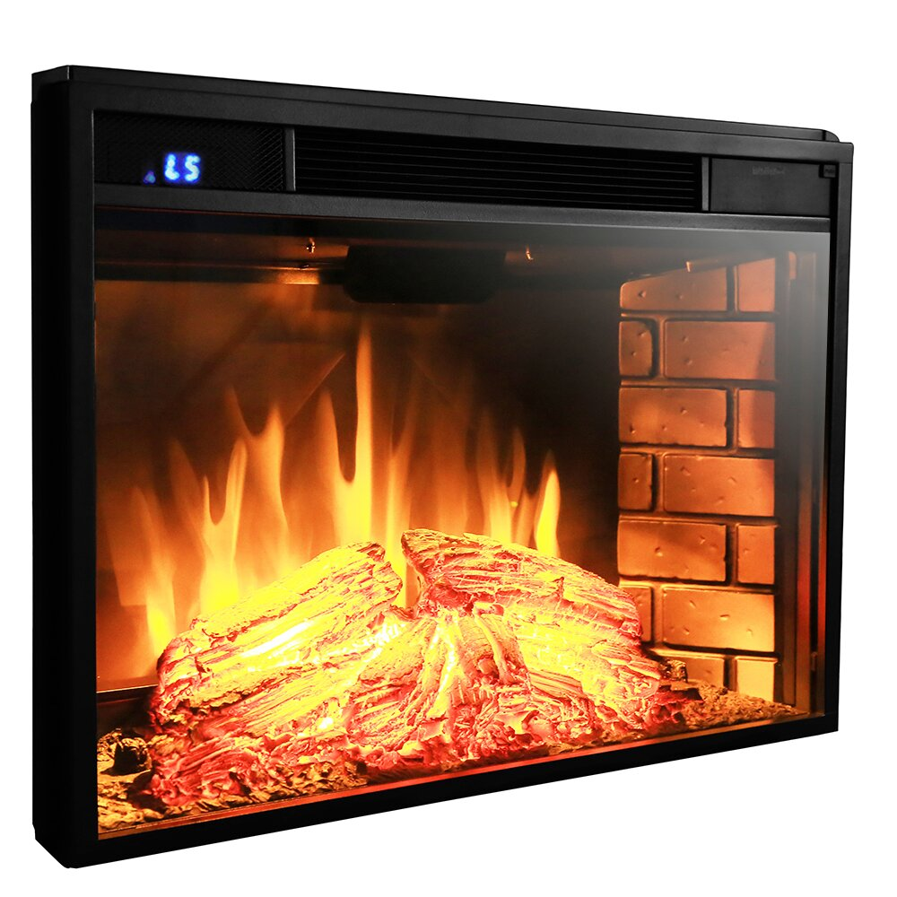 Akdy Wall Mount Electric Fireplace Insert Amp Reviews Wayfair
