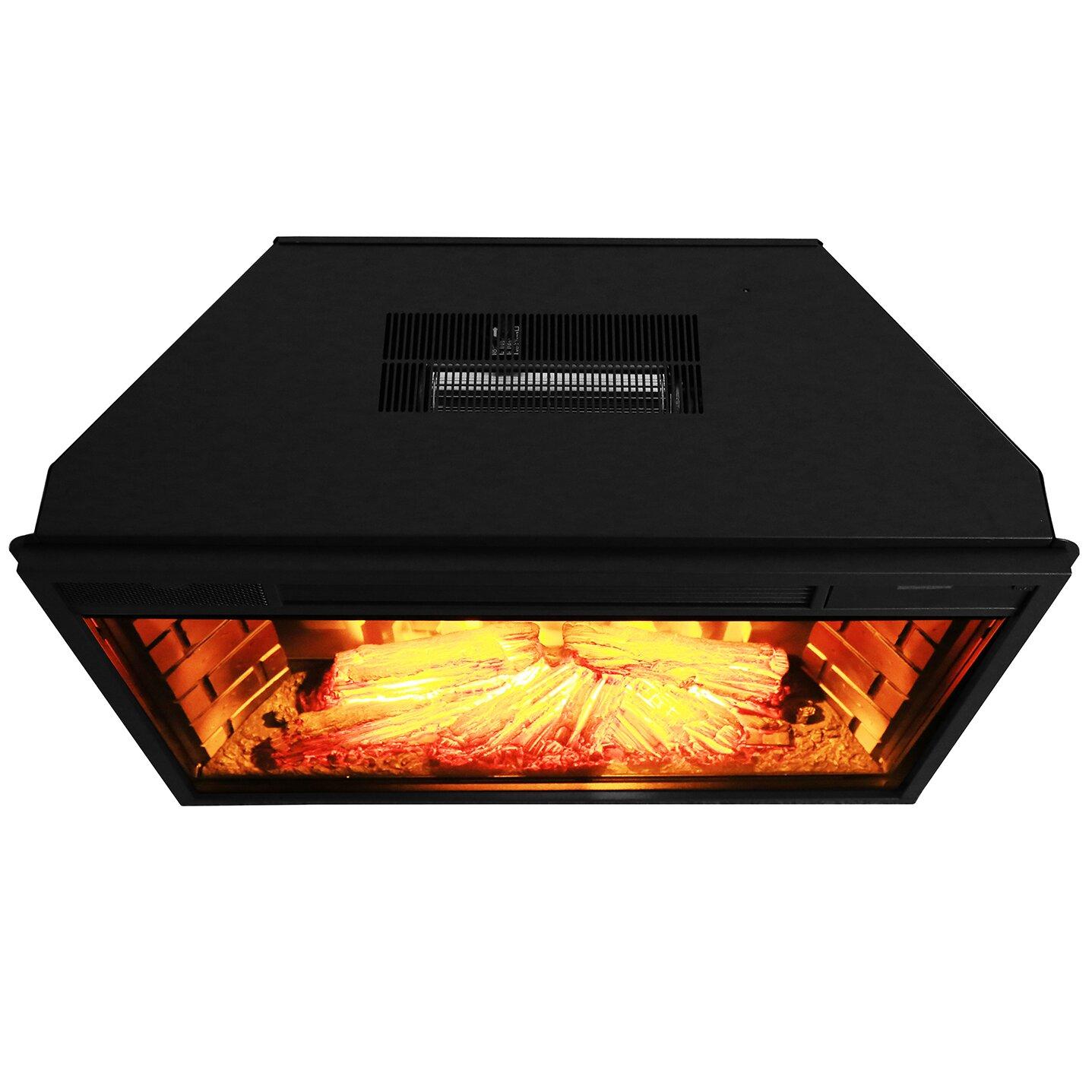 Akdy Wall Mount Electric Fireplace Insert Amp Reviews Wayfair
