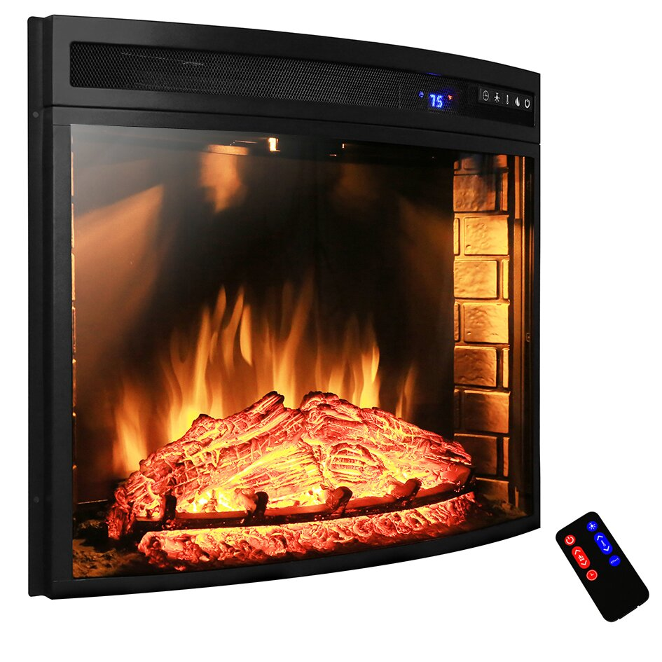 Akdy Curved Wall Mount Electric Fireplace Insert Amp Reviews