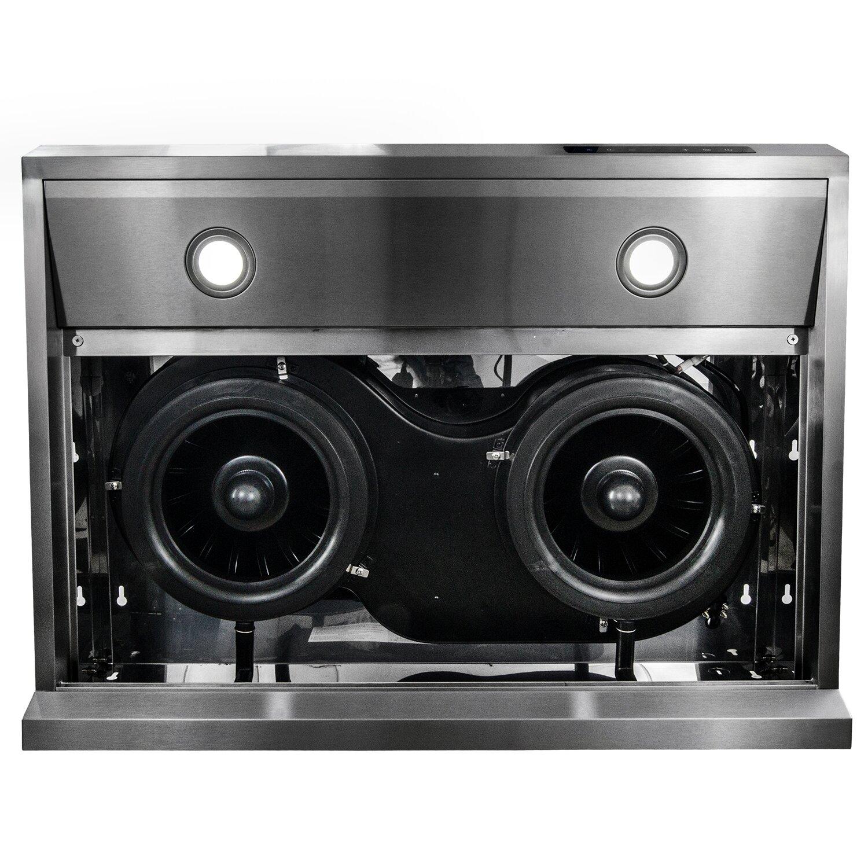 Cabinet Range Hood ~ Akdy quot cfm ducted under cabinet range hood reviews