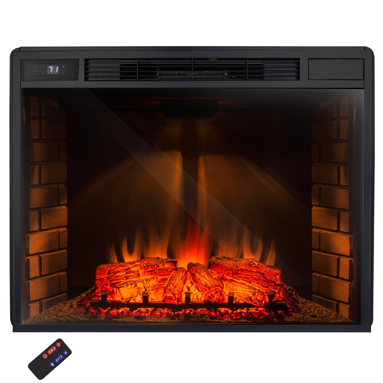 Akdy Freestanding 3d Logs Flame Electric Fireplace Insert Reviews Wayfair