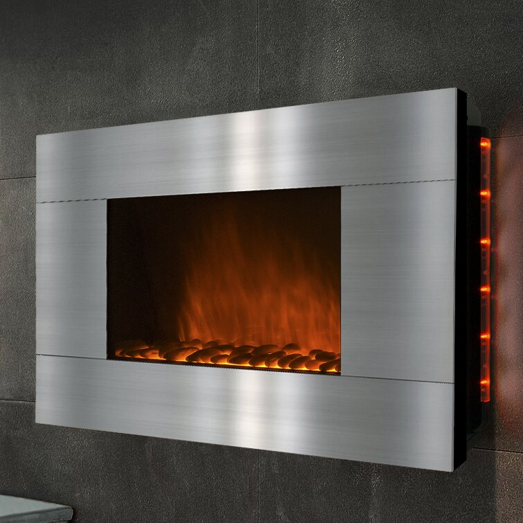 Akdy Freestanding Electric Fireplace Wayfair