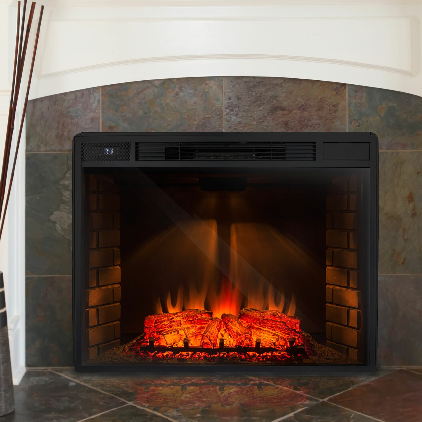 Electric Flame Fireplace Insert Jh Design . - Small Electric Fireplace Illinois Criminaldefensecom Small