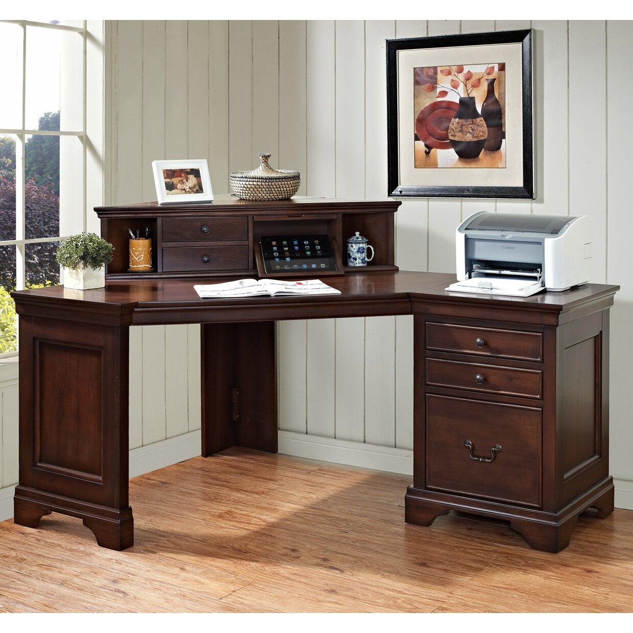 Corner Computer Desk: Turnkey LLC Broadway Computer Desk With Hutch & Reviews