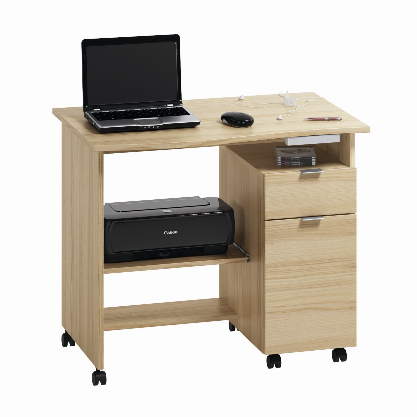 Jahnke CT 25 Computer Desk With Cabinet & Reviews