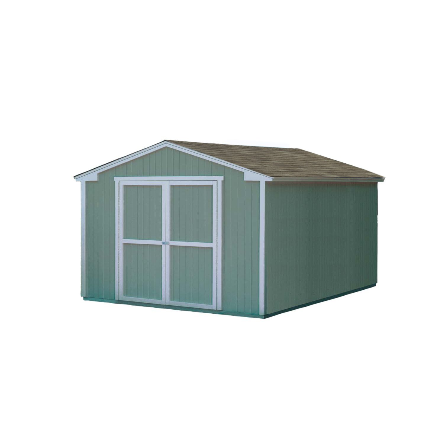 Handy home cumberland 10 ft x 16 ft storage shed for Home building kits
