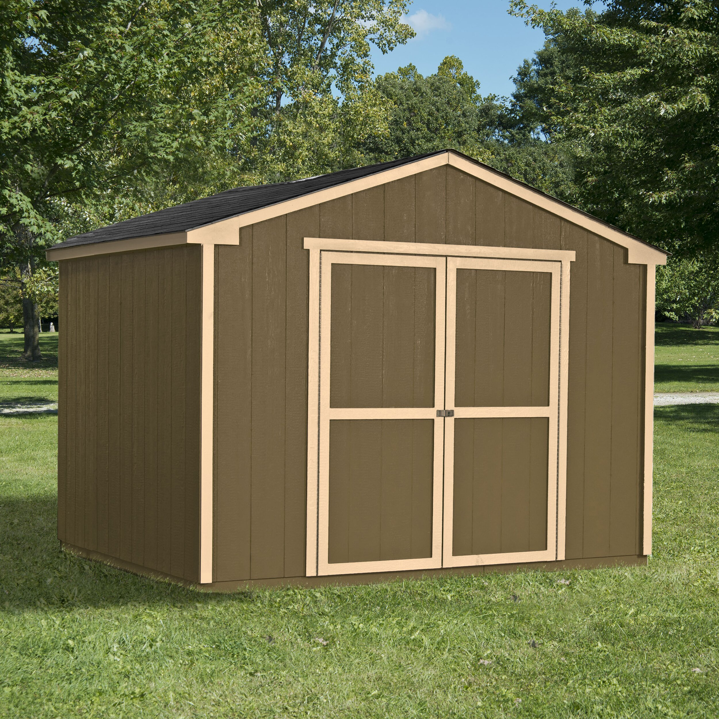 Handy home cumberland 10 ft x 16 ft storage shed for Wood storage shed