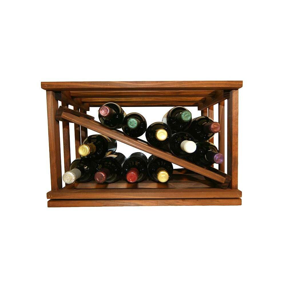 Wine cellar mini stack series 12 bottle tabletop wine rack for Wine bottle christmas tree frame for sale