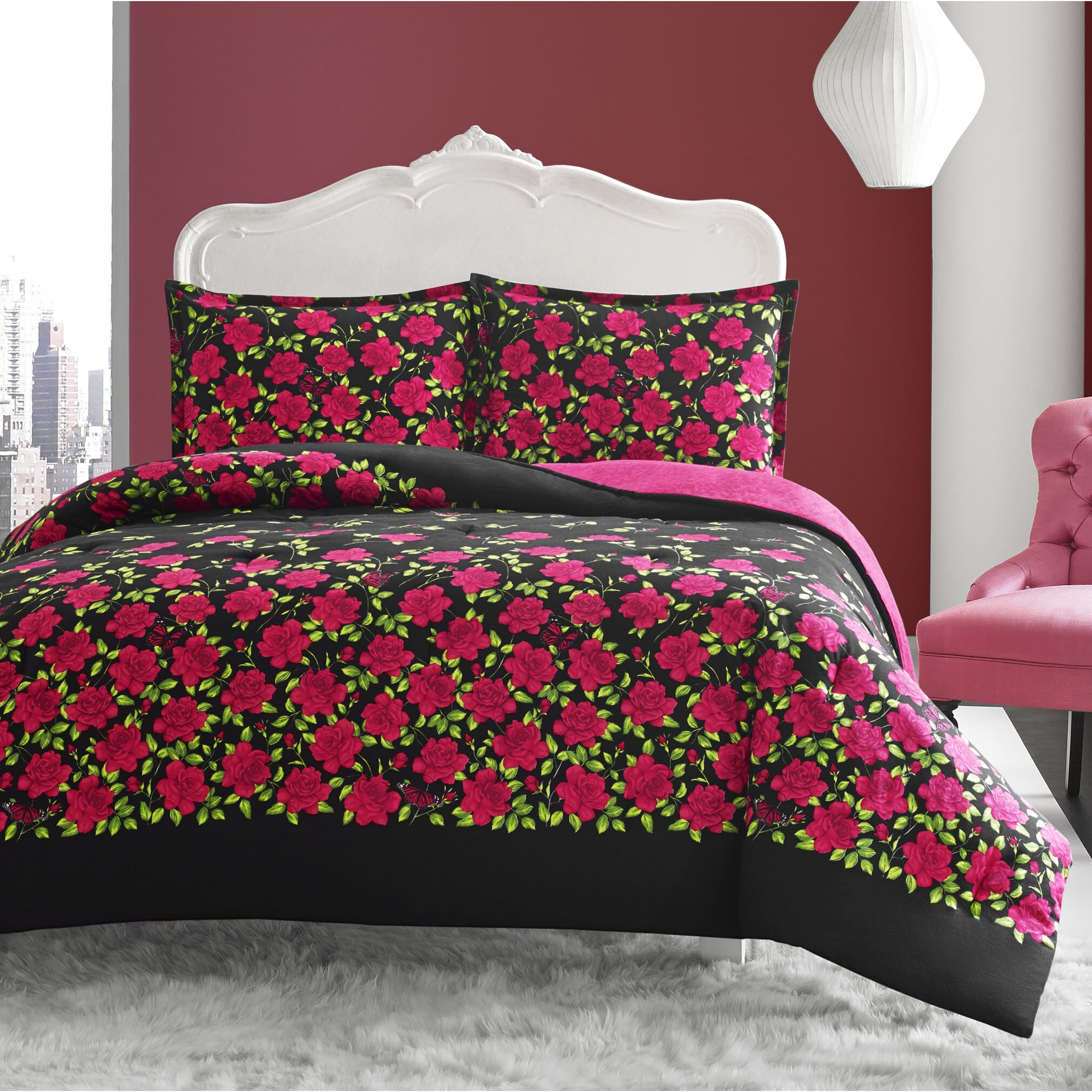 Betsey Johnson Rose Garden Comforter Set Reviews Wayfair