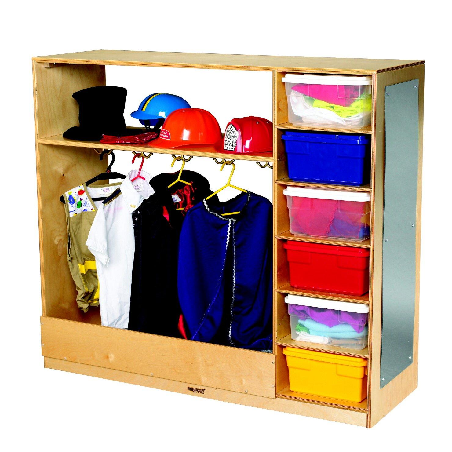 childcraft dress up storage unit reviews wayfair. Black Bedroom Furniture Sets. Home Design Ideas