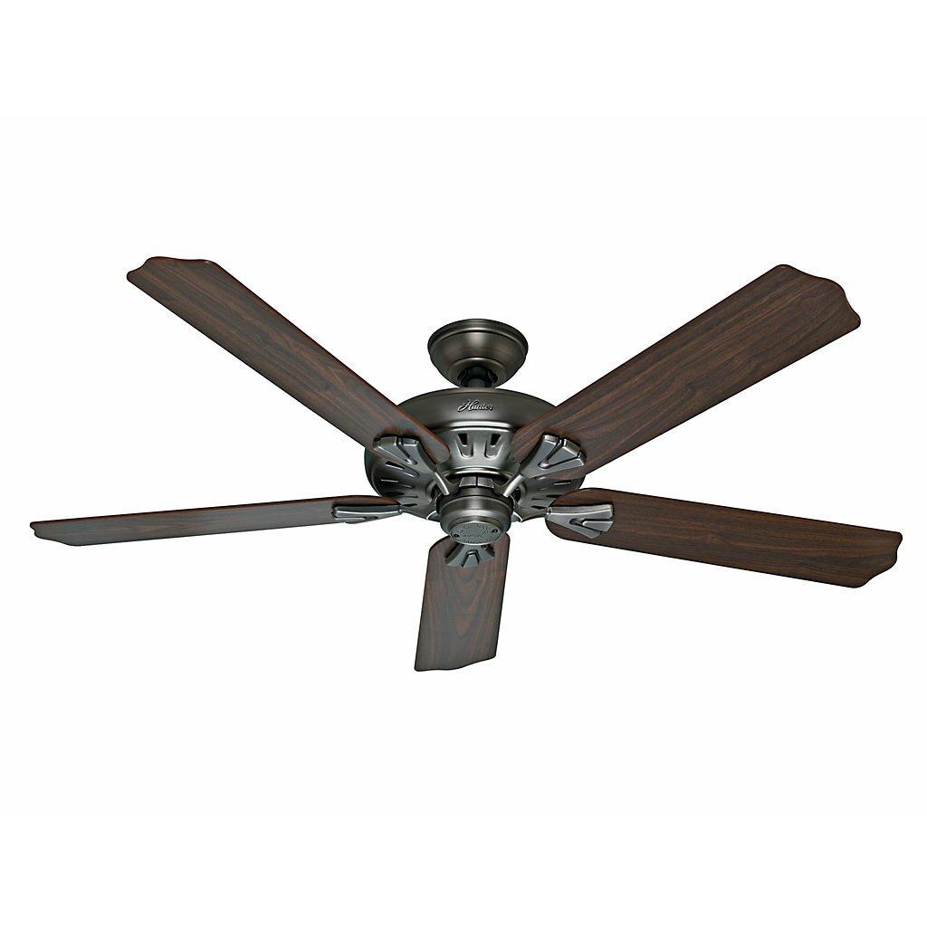 """Hunter Fan 60"""" The Royal Oak™ 5 Blade Ceiling Fan with"""
