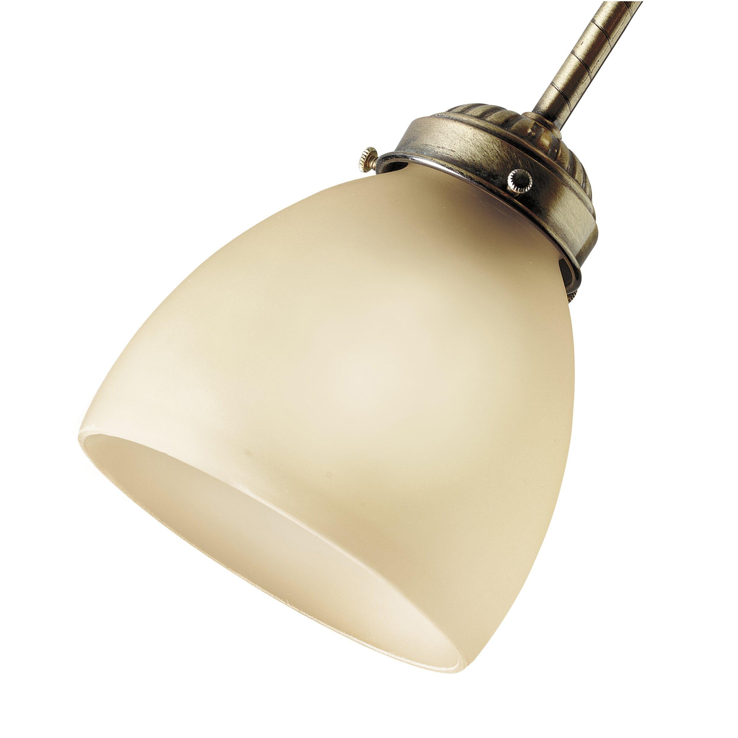 Metal Bell Lamp Shade: Hunter Fan Glass Classics Brass Bell Lamp Shade & Reviews