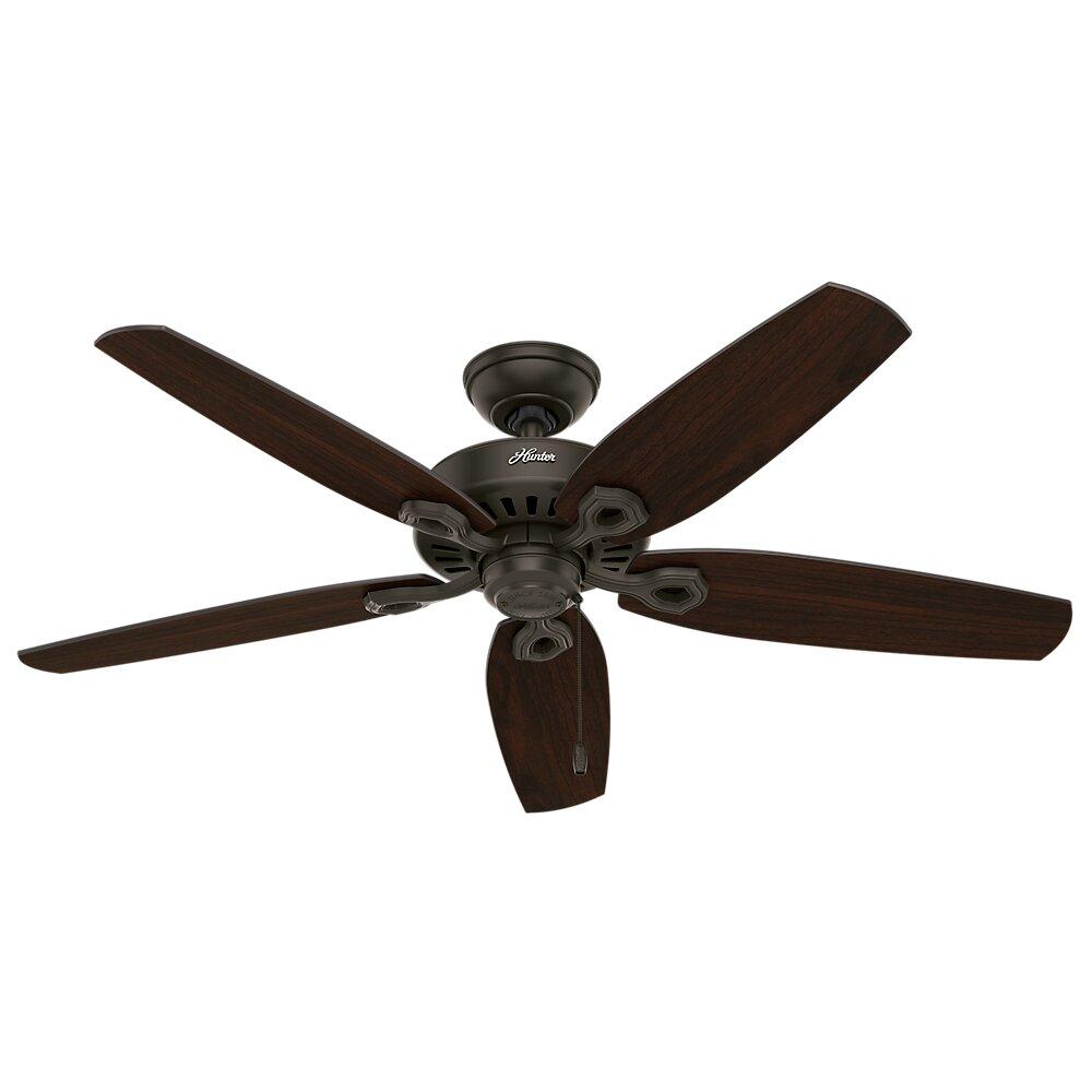 Hunter Fan 52 Builder Elite Damp 5 Blade Ceiling Fan