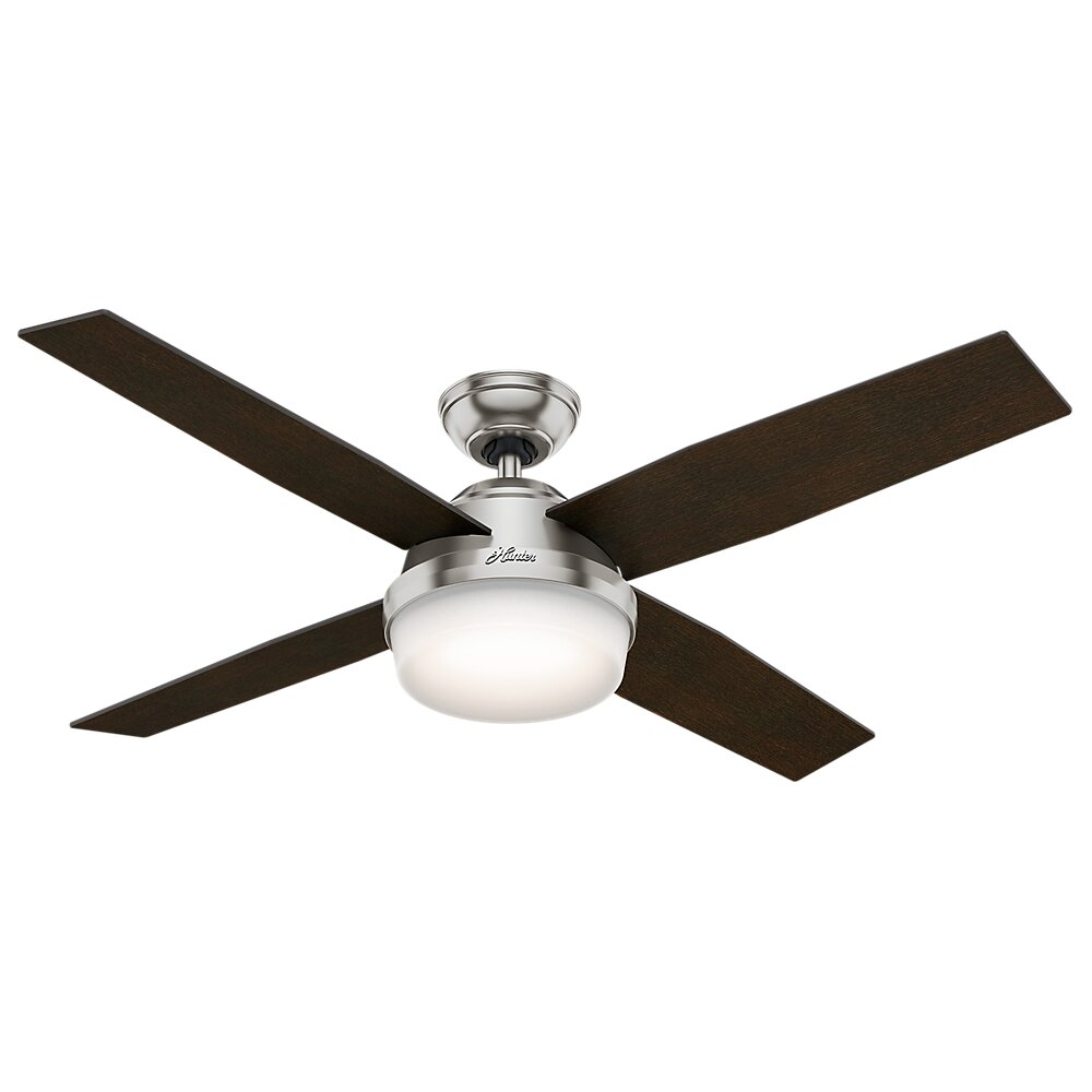 "Hunter Fan 52"" Dempsey 4 Blade Ceiling Fan With Remote And"