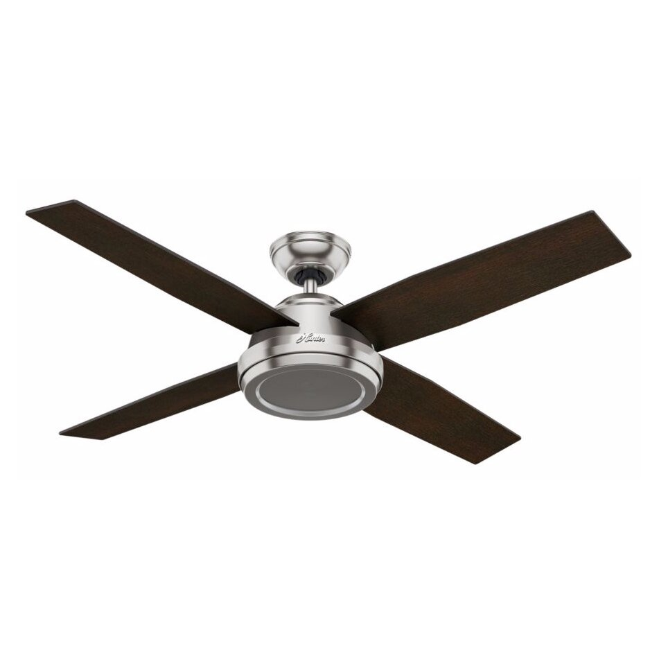 Four Blade Fan : Hunter fan quot dempsey blade ceiling with remote