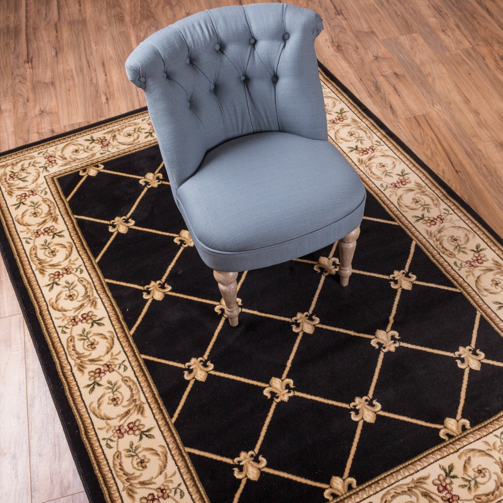 Well Woven Timeless Fleur De Lis Black Area Rug Amp Reviews
