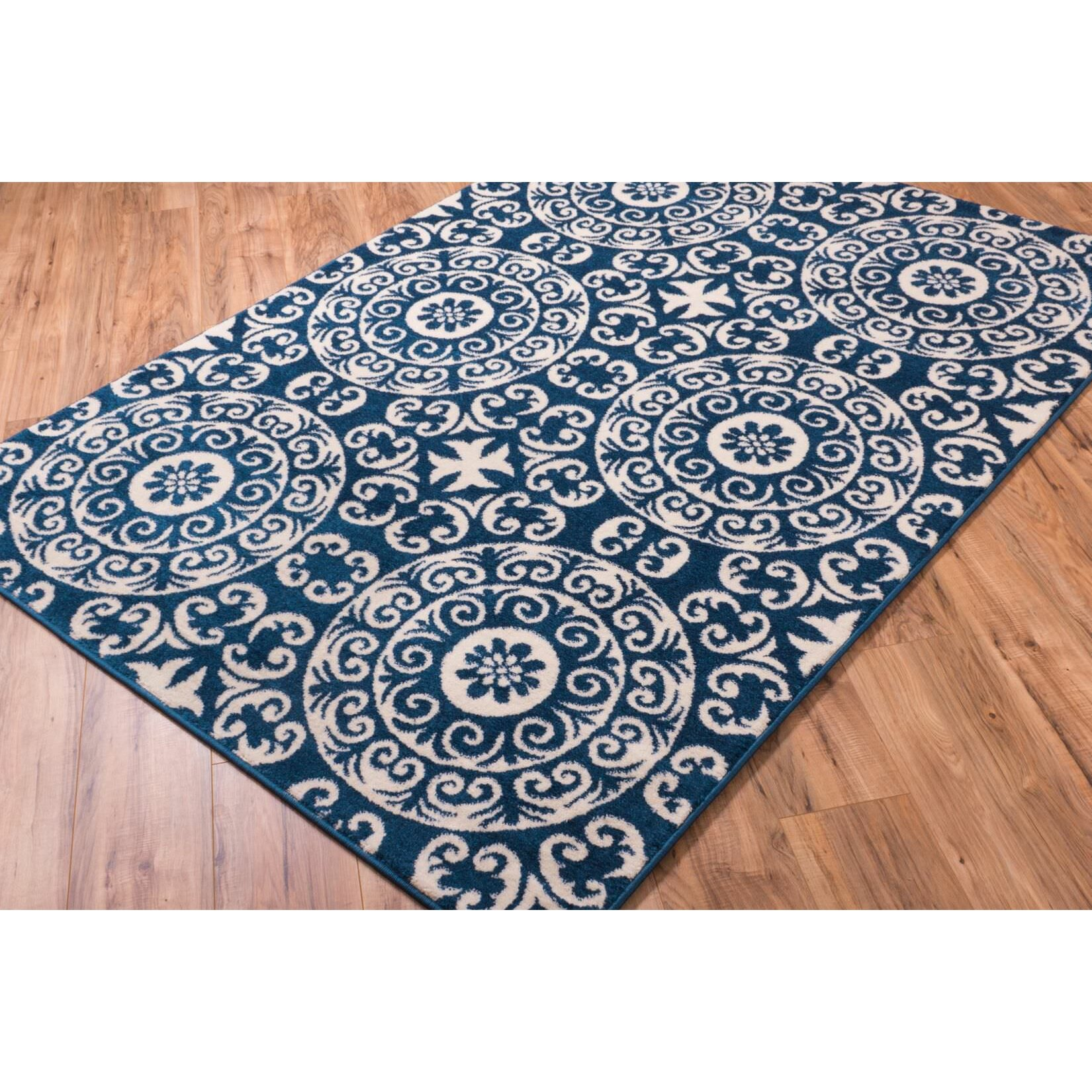 Well Woven Sydney Petra Palatial Navy Blue/White Area Rug
