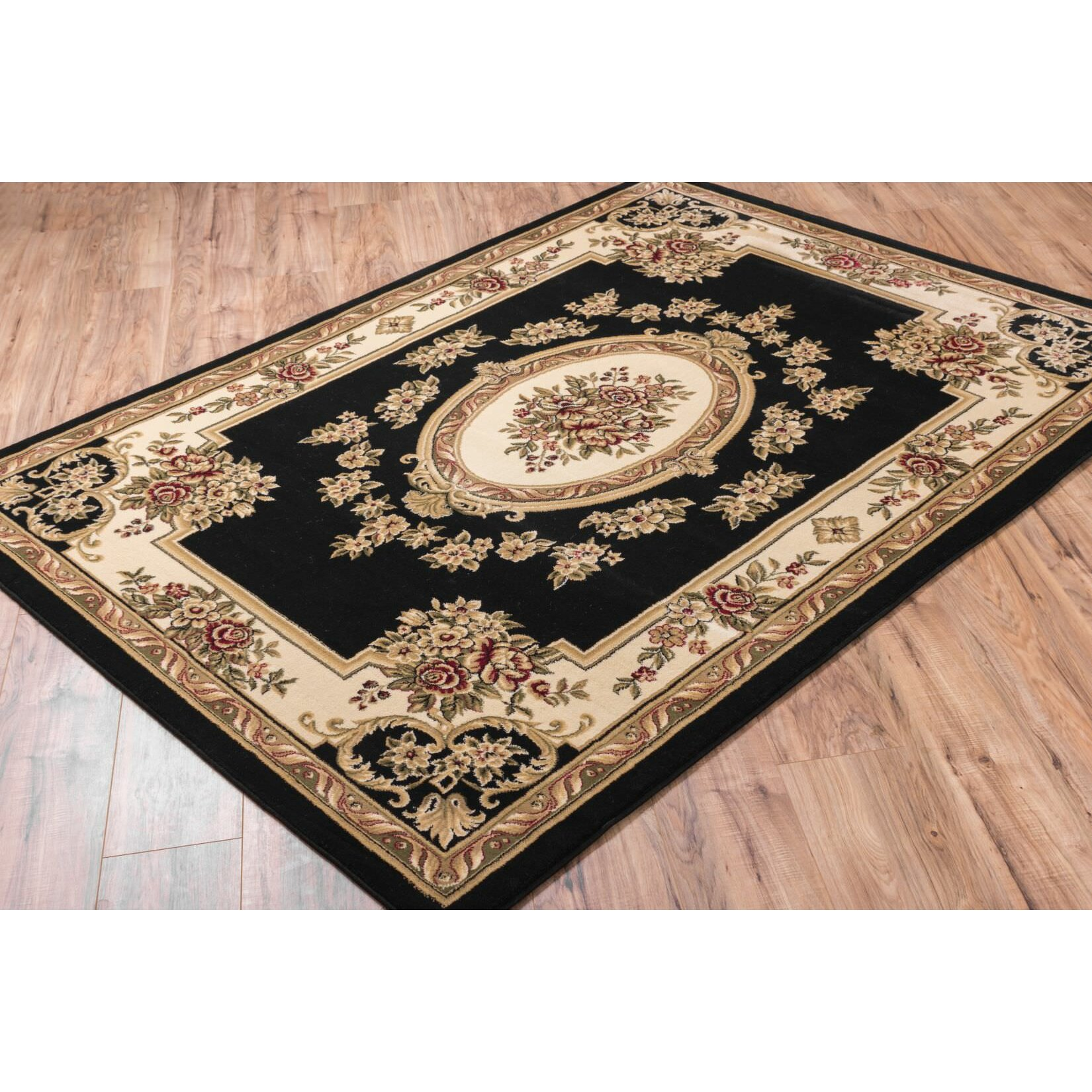 Well Woven Timeless Le Petit Palais Black Area Rug