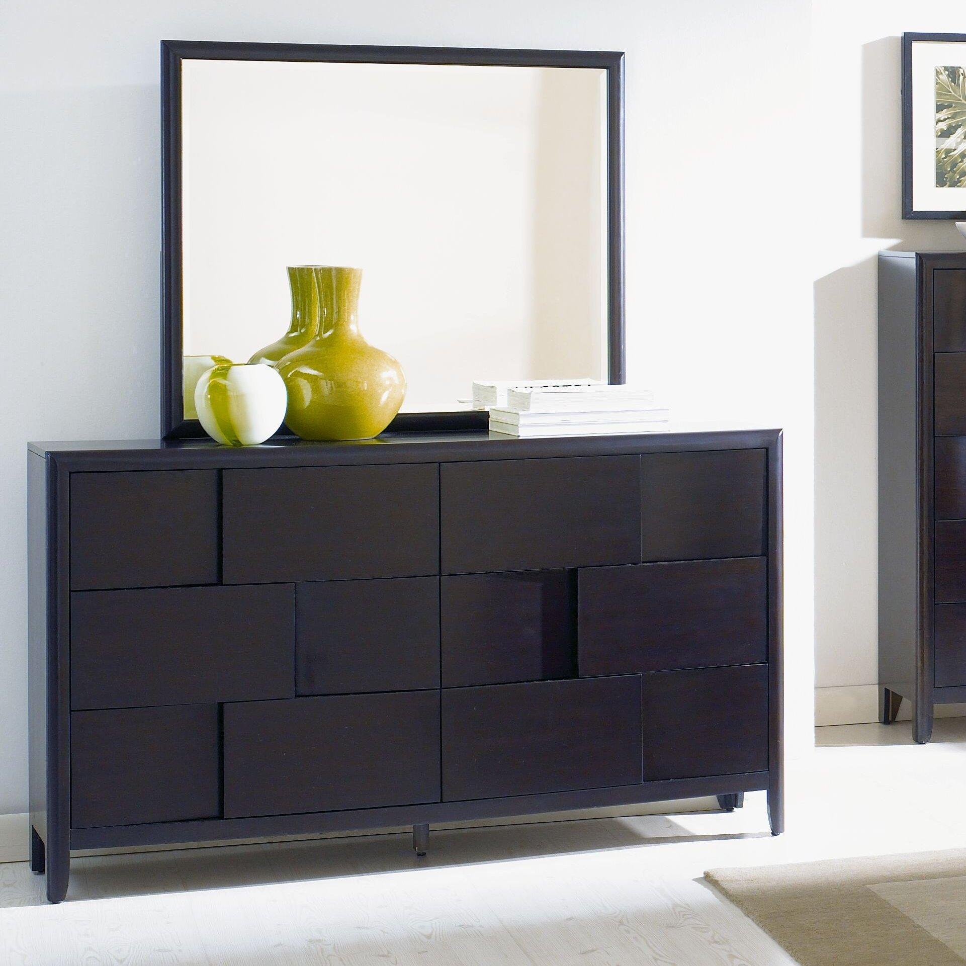 Magnussen Nova 6 Drawer Dresser With Mirror Reviews Wayfair