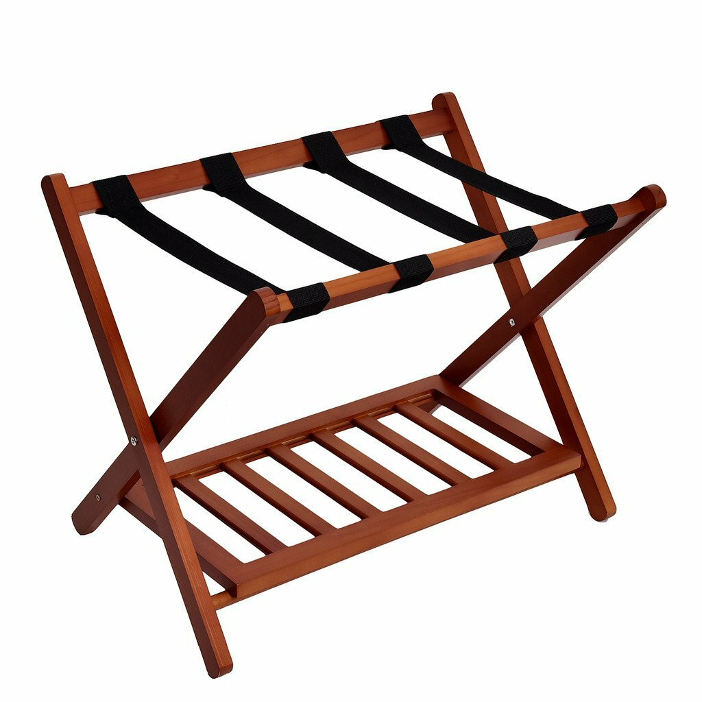 Welland Industries Llc Wood Folding Luggage Rack