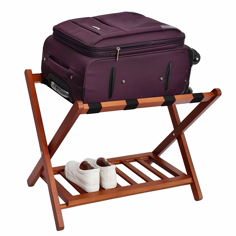 Welland Industries Llc Wood Folding Luggage Rack Wayfair
