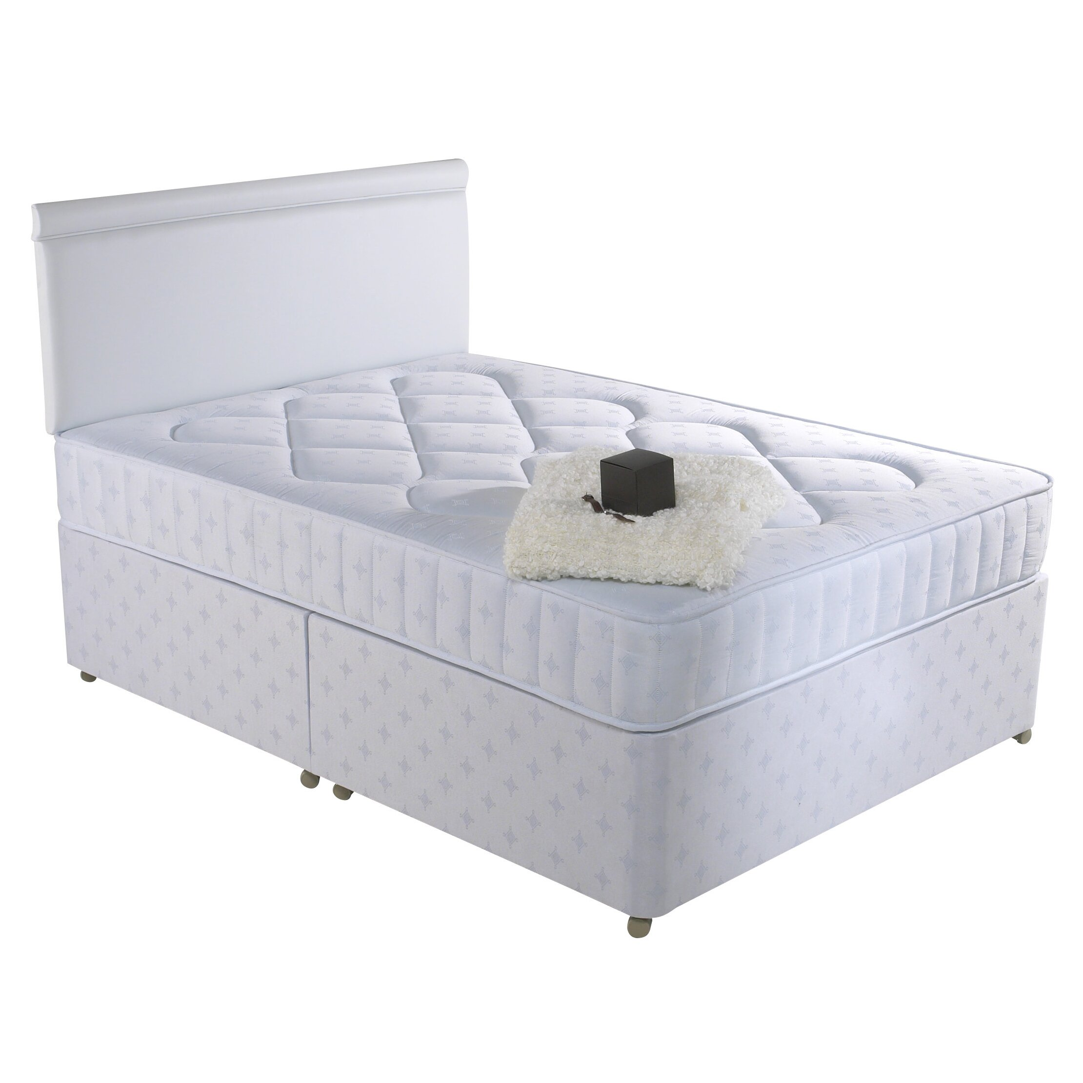 Prestington steere coil sprung mattress reviews wayfair uk for White double divan bed