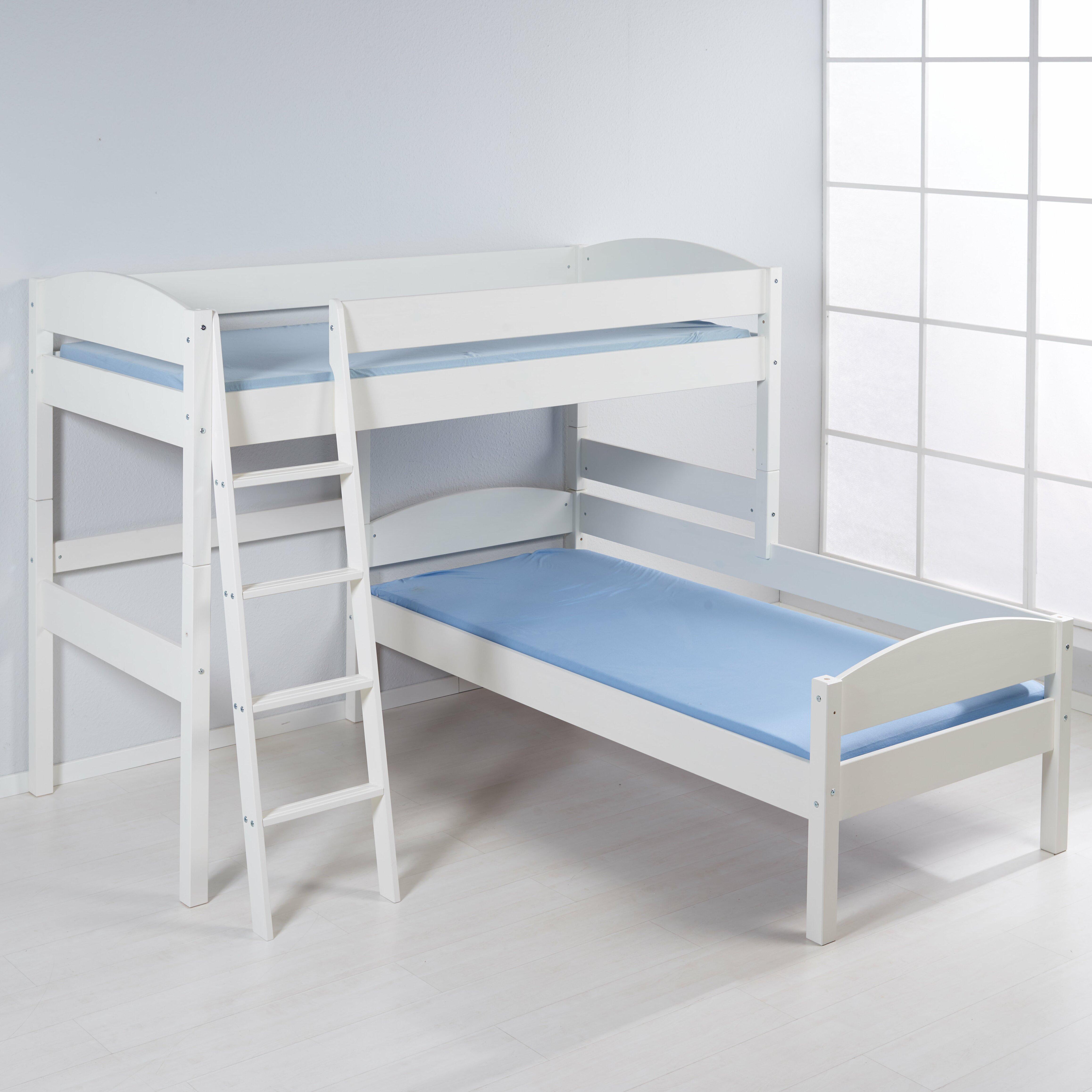 wrigglebox european single l shaped bunk bed wayfair uk. Black Bedroom Furniture Sets. Home Design Ideas