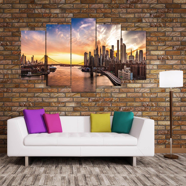 Wall Decor Set Of 5 : Fj?rde co panorama piece wall art set wayfair uk