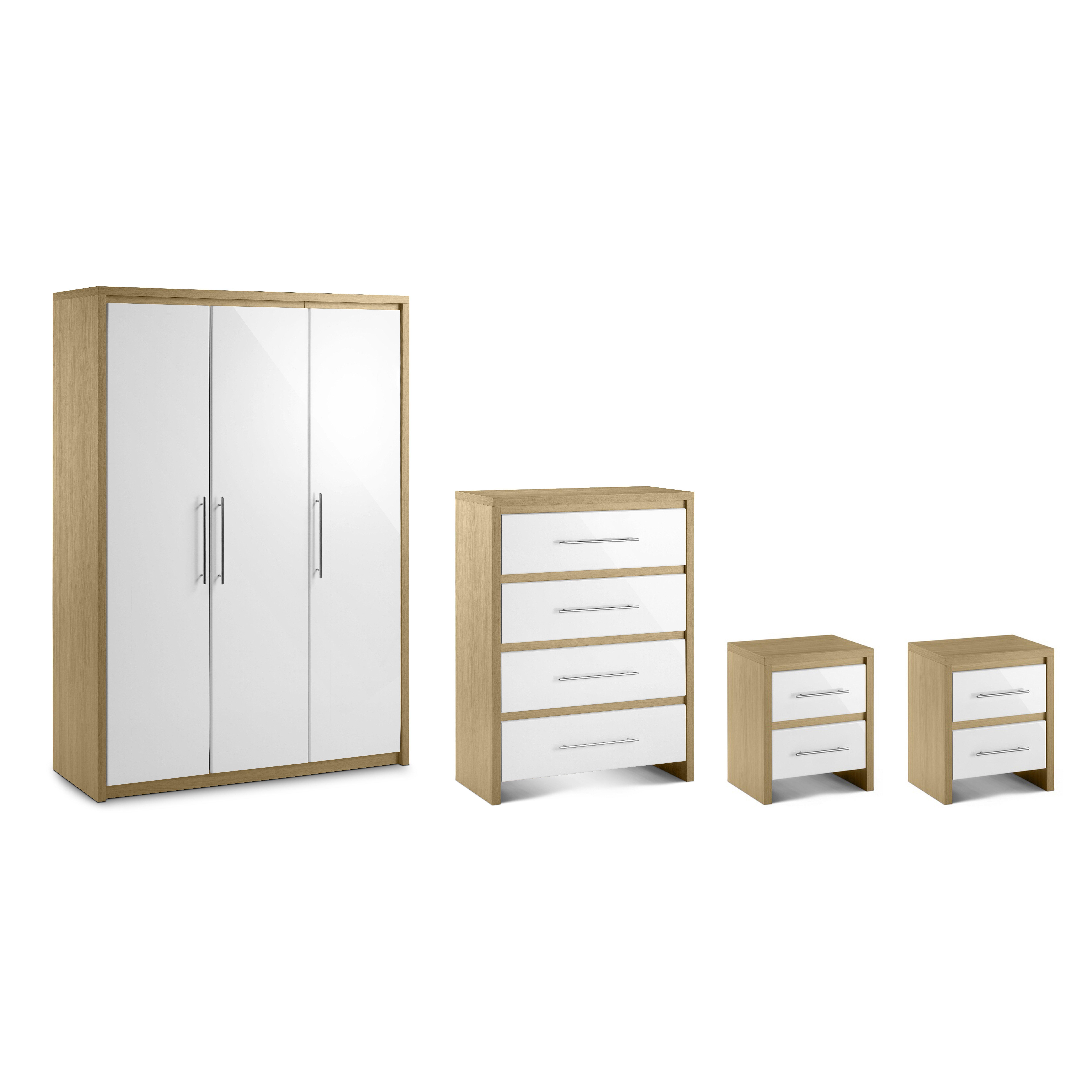 All home copenhagen 4 piece bedroom set wayfair uk for Bedroom 4 piece set