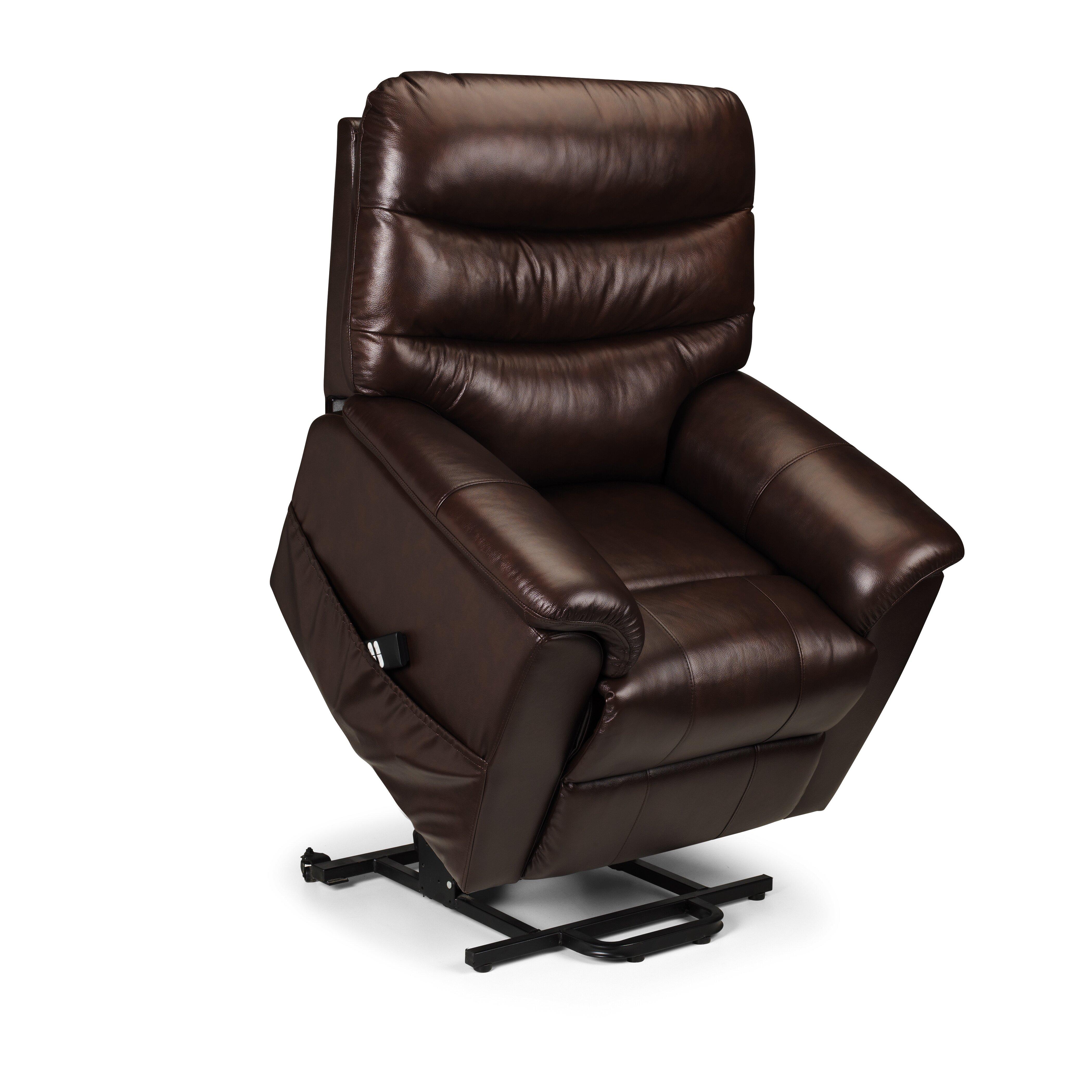 all home aberdeen leather dual motor rise recliner wayfair uk. Black Bedroom Furniture Sets. Home Design Ideas