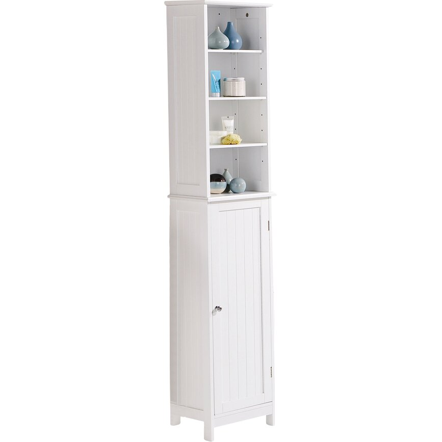 34 x 170cm free standing tall bathroom cabinet reviews wayfair uk