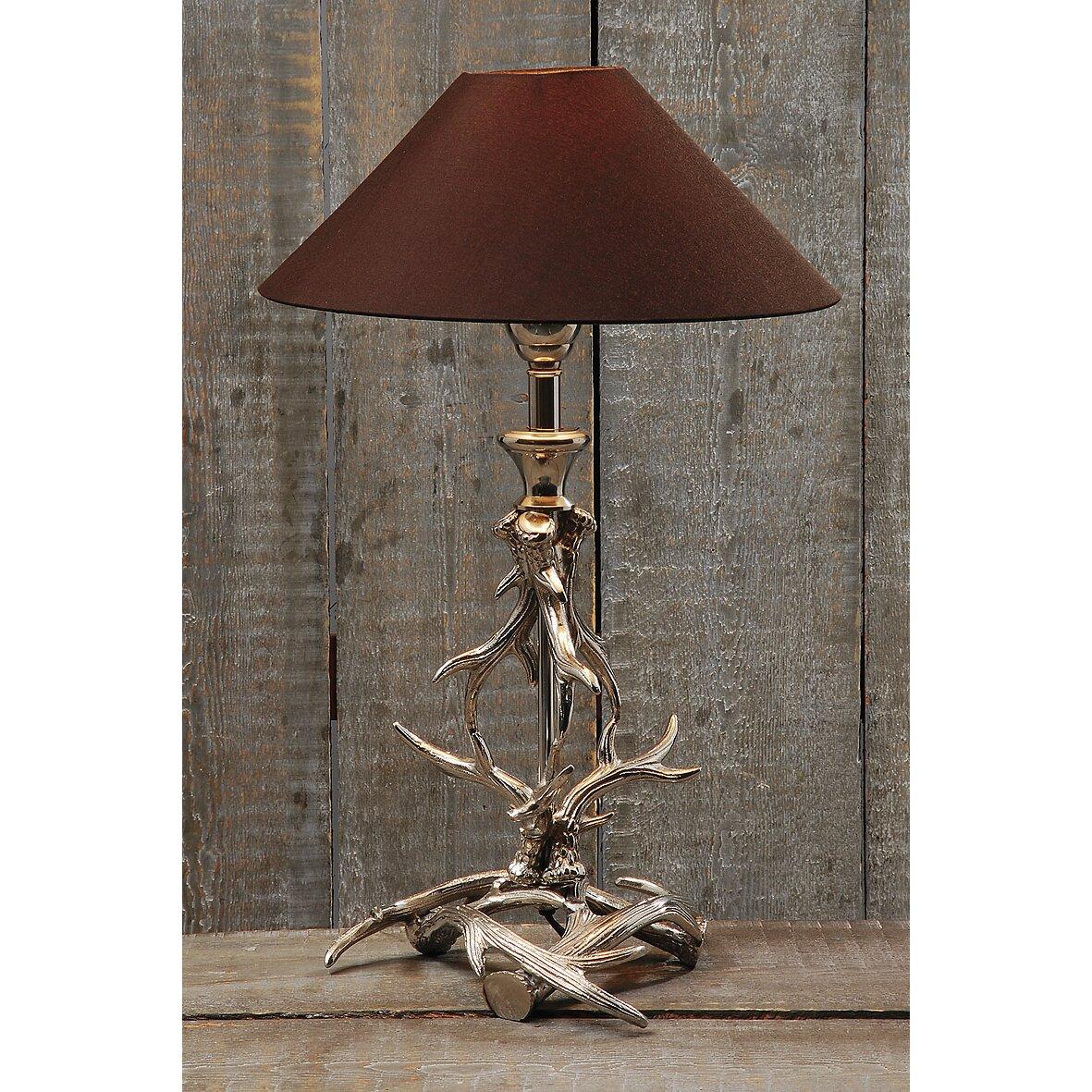 home etc geweih 54cm table lamp reviews wayfair uk