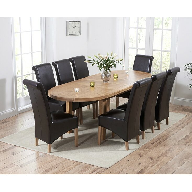 Home Etc Chantal Extendable Dining Table And 8 Chairs Wayfair Uk