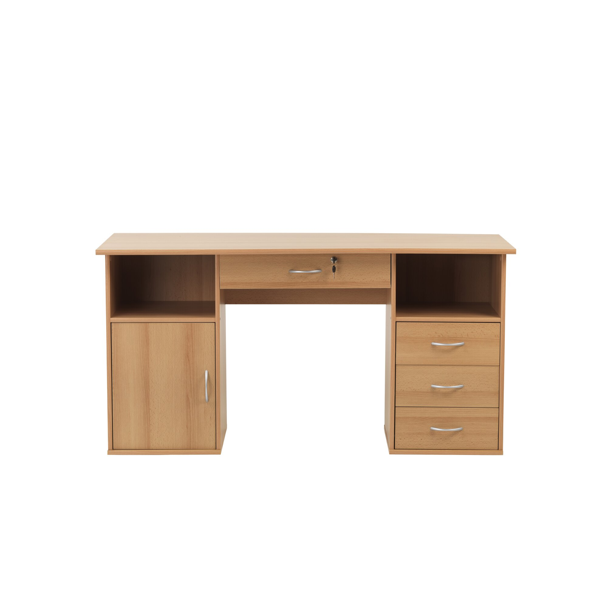 home etc dallas computer desk with locking drawer reviews wayfair uk. Black Bedroom Furniture Sets. Home Design Ideas