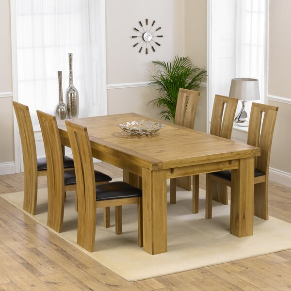 Home Etc Patricia Extendable Dining Table And 6 Chairs Wayfair Uk