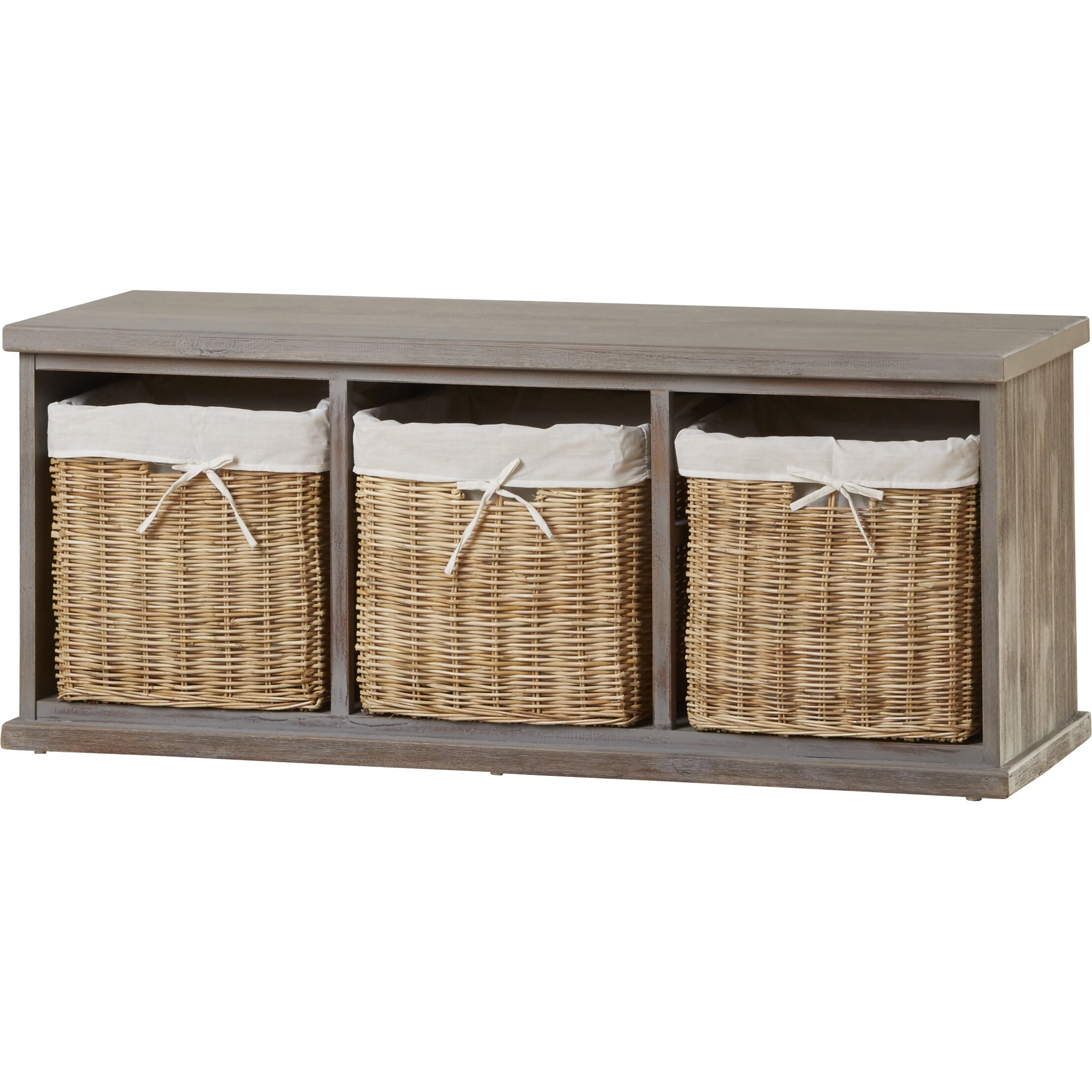 Home Etc Wood Storage Entryway Bench & Reviews