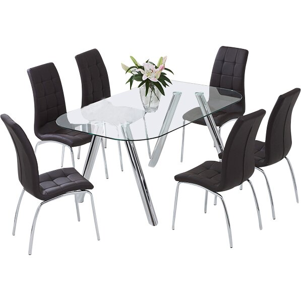 Home Etc Panther Dining Table And 6 Chairs Reviews Wayfair Uk
