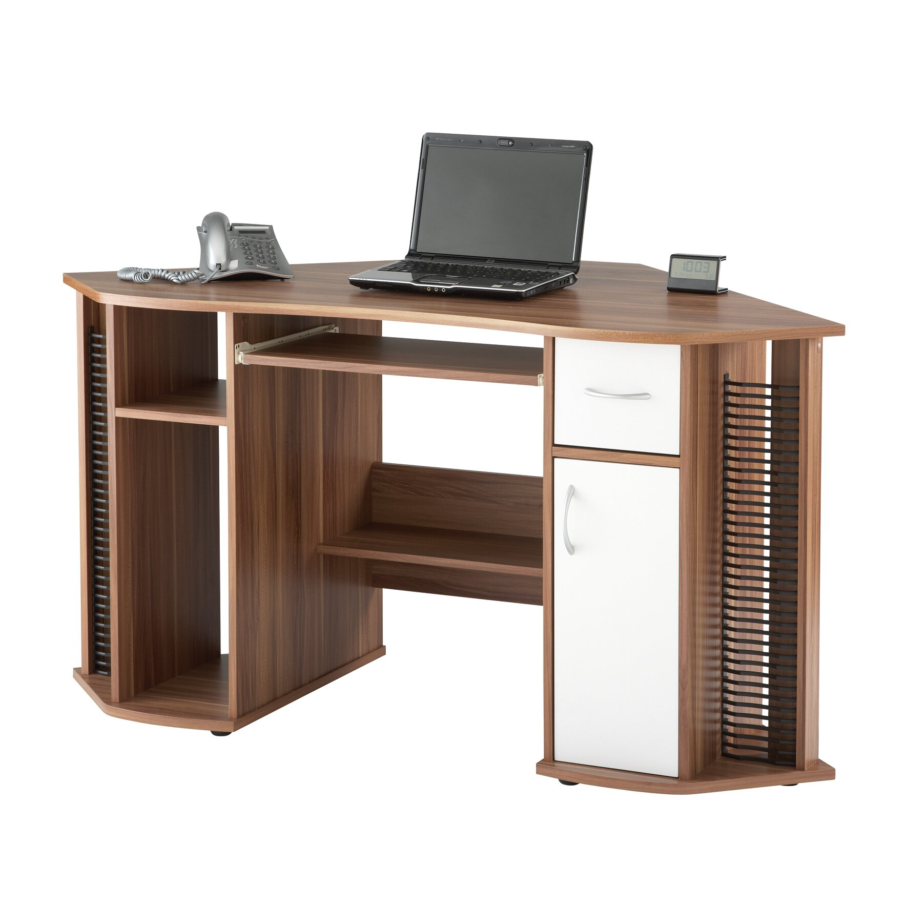 Corner Computer Desk: Home Etc Maxam Computer Desk With Keyboard Tray