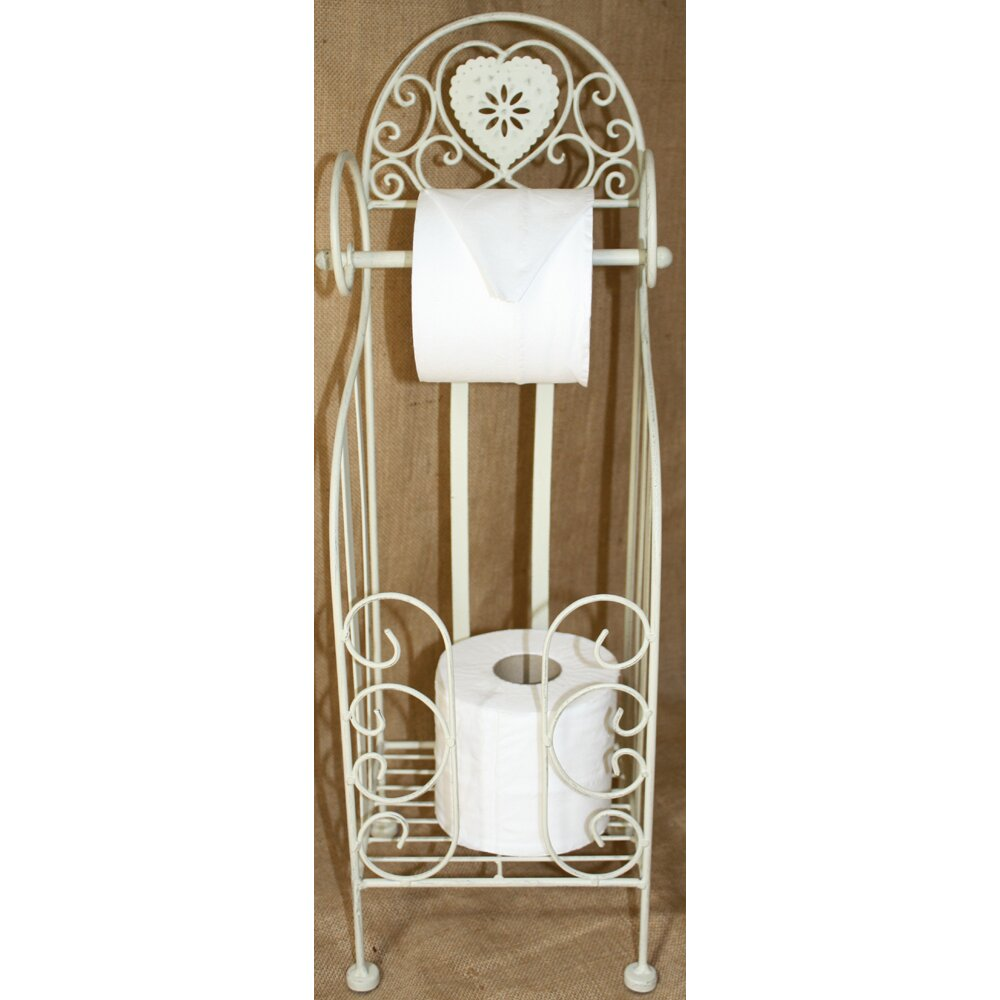 House additions freestanding toilet roll holder with Glass toilet roll holder