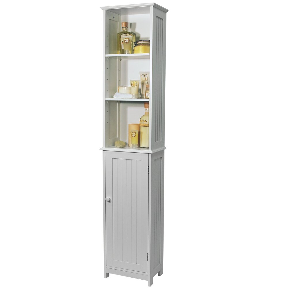 165cm free standing tall bathroom cabinet reviews wayfair uk