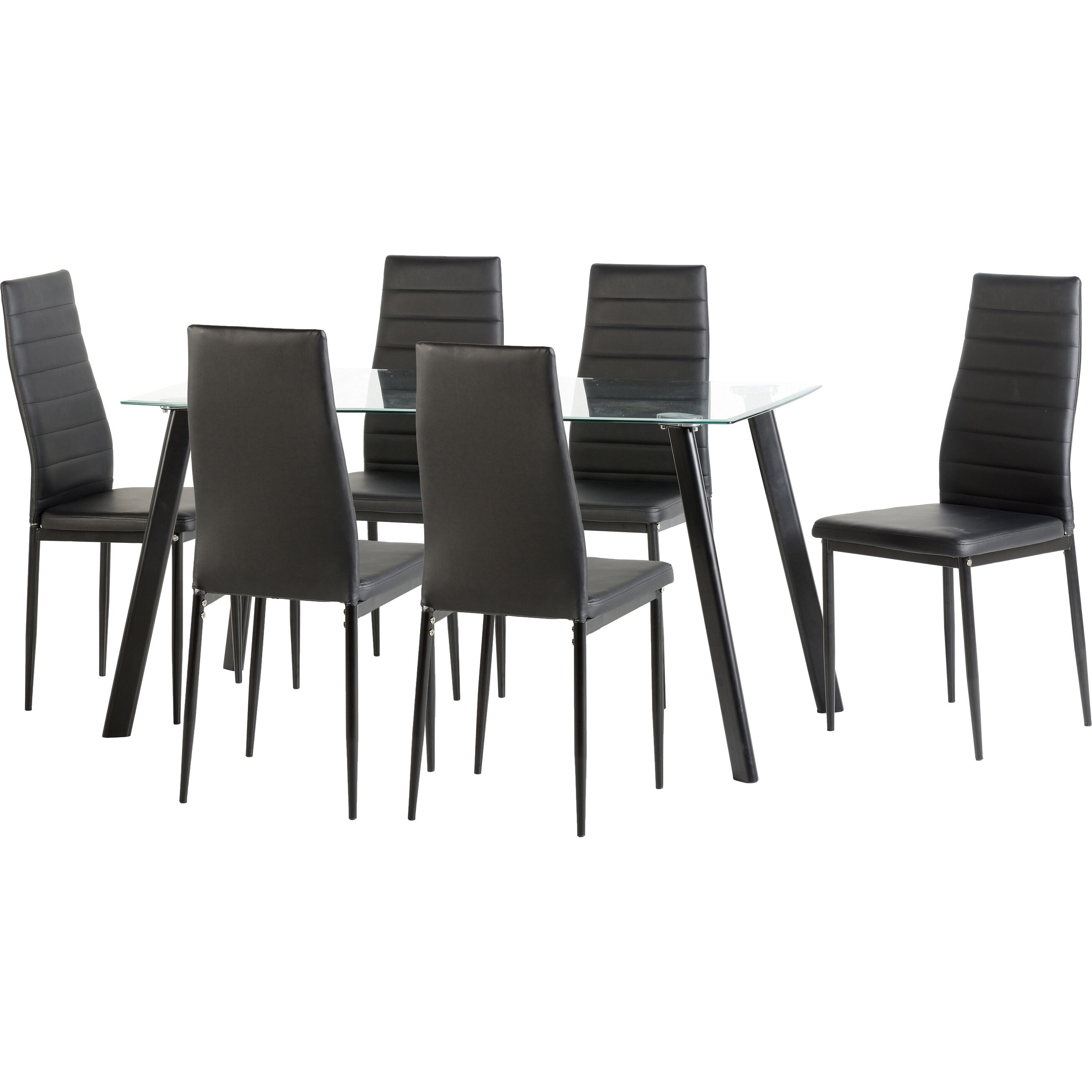 Home Haus Adder Dining Table And 6 Chairs Reviews Wayfair Uk