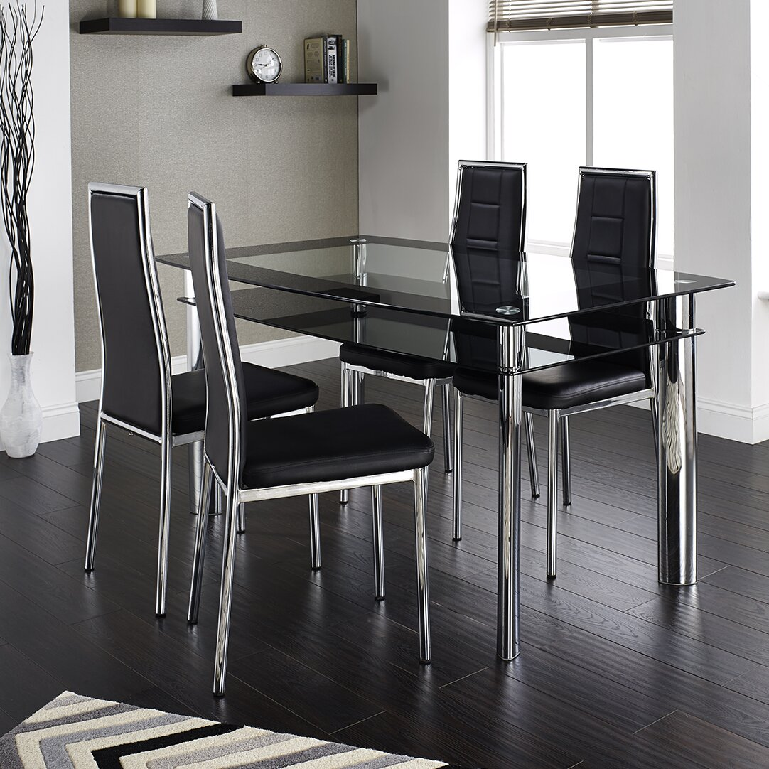 home haus ingham dining table and 4 chairs wayfair uk